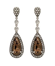 Chocolate diamond teardrop earrings. Finally my two favourite things combined - Chocolate and Diamonds