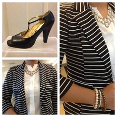 :: My Closet Catalogue ::: Day 6 :: black and white part deux - the striped blazer