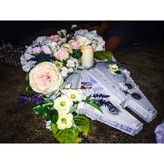 Our sweetheart table centerpiece. Star Wars wedding. DYI