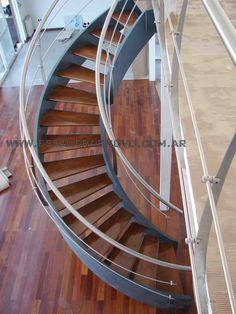 Escaleras Caracol doble cinta helicoidal