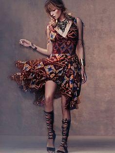 Free People FP ONE Bandhani Wisteria Dress
