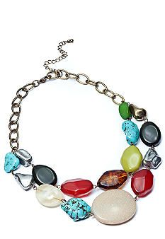ND® New Directions Touch of Turquoise Two Row Nested Necklace #belk #jewelry #color