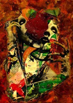 Saatchi Online Artist CARMEN LUNA; Assemblage / Collage, 5-Collagemania Carmen Luna-Marilyn Manson #art http://www.saatchionline.com/art-collection/Assemblage-Collage/Collagemania-CARMEN-LUNA/71968/46137/view
