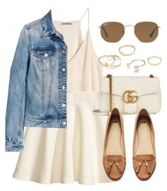 """""""Sin título #13340"""" by vany-alvarado ❤ liked on Polyvore featuring H&M, Gucci, Ray-Ban and Jeweliq"""