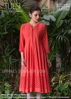 Kurtas, Kurta Sets, Dresses, Tunics, Pants in fresh summer colors from tulsi online http://minmit.com/index.php/collection-of-kurtas-salwars-tunics-from-tulsi-online