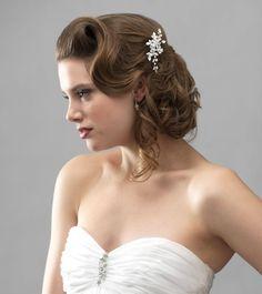 Amazon.com : Wedding Bridal Side Comb with Rhinestone Flowers 119 : Decorative Hair Combs : Beauty