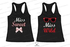 Cute Best Friend Tank Tops  Miss Wild and Miss by 365inlovedotcom, $30.99