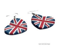 Amour Go boucles d'oreilles - boucles d'oreilles en polymère Union Jack