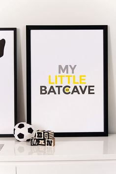Batcave, superhero art, boys room, playroom art, kids wall art, Batman, Children…