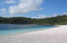 The white sandy beaches of Fraser Island.