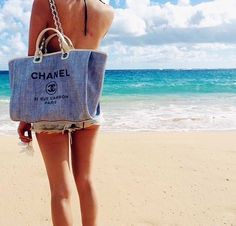 Chanel at the beach