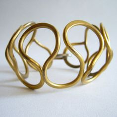 Bracelet | Ruth Berridge. Gold plated brass. ca. 1950s