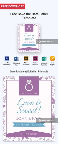 Free Wedding Gift Label Gift labels, Label templates and Template