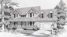 LOOVVEE House Plan 63517 | Victorian Plan with 1881 Sq. Ft., 3 Bedrooms, 3 Bathrooms, 2 Car Garage
