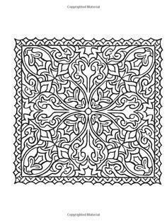 Creative Haven Square Mandalas Coloring Book