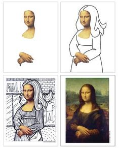 Mona Lisa Line Art Project