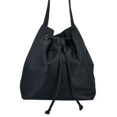 "Ob als Schultertasche oder Shopper deklariert, diese echt Leder Tasche ist ein super ""Allrounder"" Super, Drawstring Backpack, Rebecca Minkoff, Bucket Bag, Backpacks, Bags, Fashion, Handbags, Moda"