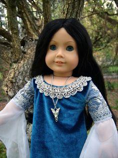OOAK Arwen Lord of the Rings Custom American Girl Doll & Dress/Evenstar Necklace in | eBay