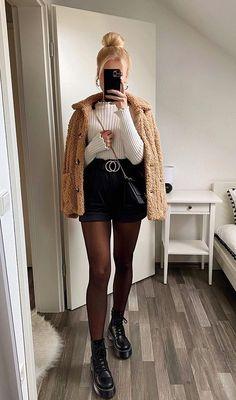 Girls Fashion Clothes, Winter Fashion Outfits, Cute Fashion, Look Fashion, Trendy Fashion, Fall Outfits, Cute Casual Outfits, Short Outfits, Stylish Outfits