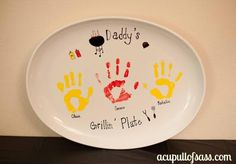 Perfect for the BBQ Dad!  Gillin Plate for Father's Day.