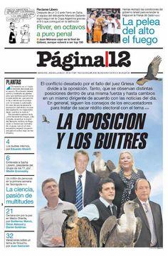28 de julio - Página/12 - Semáforo rojo para la oposición