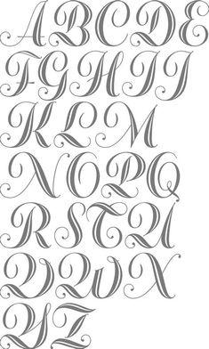 Alphabet Cursif, Alphabet Graffiti, Cursive Fonts Alphabet, Initial Fonts, Graffiti Lettering Fonts, Tattoo Lettering Fonts, Creative Lettering, Lettering Design, Monogram Fonts