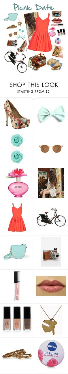 """""""Picnic Date"""" by rebecca-elizabethhh ❤ liked on Polyvore featuring Dolcis, Forever 21, Oliver Peoples, Marc Jacobs, Hermès, Vince Camuto, Fuji, Butter London, e.l.f. and STELLA McCARTNEY"""