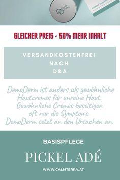DemoDerm ist anders als gewöhnliche Hautcremes für unreine Haut. Gewöhnliche Cremes beseitigen oft nur die Symptome. DemoDerm setzt an den Ursachen an. Dies ist für den europäischen Hautcreme-Markt sicher eine Revolution und erfordert ein Umdenken – auch bei den Anwendern. Jetzt kurzfristig mit 50% mehr Inhalt! Austria, Revolution, Beauty, Pimple, Beauty Illustration