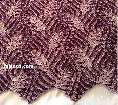 Two-Color Thessaloniki Knitting - Crochet Clothing 2019 - 2020 Knitting Paterns, Easy Knitting, Double Knitting, Knitting Stitches, Knit Patterns, Crochet Socks, Crochet Clothes, Easy Crochet, Knit Crochet