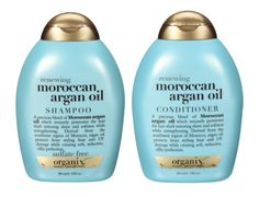 """""""Organix Moroccan Argan Oil Shampoo and Conditioner"""" Good sulfate free cleansers that also mousture hair. Argan Oil Of Morocco Shampoo, Argan Oil Hair, Organix Shampoo, Argan Oil Conditioner, Sulfate Free Shampoo, Shampoos, Argan Oil Treatment, Mixed Hair, Hair"""
