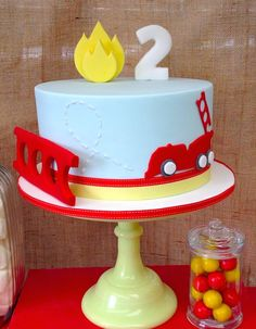Vintage Fire Truck Themed Birthday Party {Ideas, Decor, Planning}