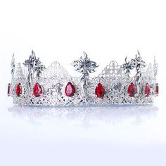 KING CROWN Silver Mens Crown, Male Crown, King costume, Medieval Crown,Victorian #Handmade #HatsHeadwear