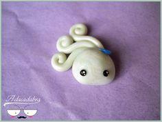 Wind Spirit Charm  Kawaii Handmade Polymer Clay by Adacadabra, €4.00