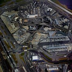 Aerial shots of airports. So cool!
