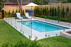 From a Tuscan-style resort to a rustic farmhouse swimming pool, these pools will certainly make you intend to dive right in. If you need more inspo, attempt our favorite outdoor patio and landscaping ideas. Pool Decor, Simple Pool, Small Pools, Family Pool, Pool Landscape Design, Glass Pool Fencing, Glass Pool