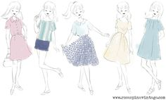 Rosaspina Vintage: sketches (they're simply beautiful!)