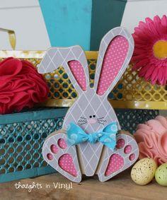 Hoppy Feet Wooden Bunny