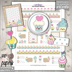 Cupcake Planner  Stickers by www.YupiYeiPapers.Etsy.com