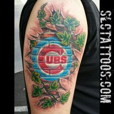 chicago cubs tattoo designs | Jake did this Cubs skinripper. Enjoy! SLC Ink Tattoo 1150 South Main ...