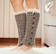 Crochet PATTERN for leg warmers (pdf file) - Luxury Leg Warmers Crochet Boot Cuffs, Crochet Leg Warmers, Crochet Boots, Crochet Slippers, Crochet Clothes, Knit Crochet, Free Crochet, Loom Knitting, Knitting Patterns