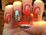 party nails            #nails www.finditforweddings.com