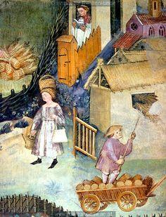 Trient, Włochy, 1400-1410 r. - fresk