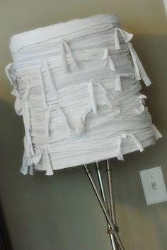 Ripped shirt lampshade
