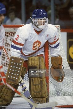 czech-hockey-player-dominik-hasek-in-goal-for-team-czechoslovakia-picture-id56731807 (684×1024) Hockey Goalie, Hockey Players, Ice Hockey, Canada Cup, Hockey Pictures, Goalie Mask, Camping Gifts, Camping Accessories, Best Player