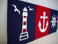 Nautical Nursery Wall Decor Anchor Ships by cathyscraftycovers