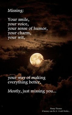 Missing you, missing the me I was with you...: