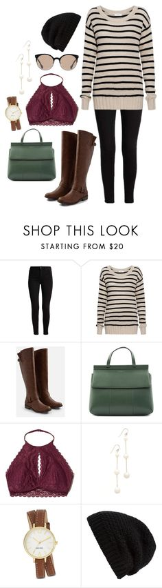 """""""Comfy Autumn Day"""" by kayla-846 ❤ liked on Polyvore featuring A.L.C., JustFab, Tory Burch, Hollister Co., Chan Luu, Nine West, Rick Owens and Balenciaga"""