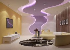 POP design for wall and false ceiling for living rooms