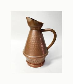 Charming Small French Vintage Copper Pitcher  French