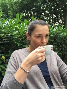 Katarzyna Gajgał-Anioł with a cup of coffee #coffee #volleyball #volleyballplayer